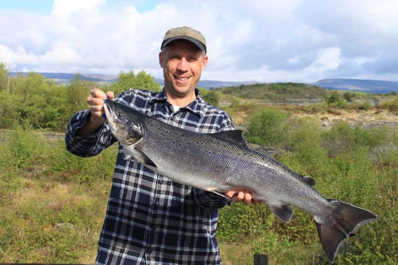 Florian Keller - Salmon Caught - April 2014