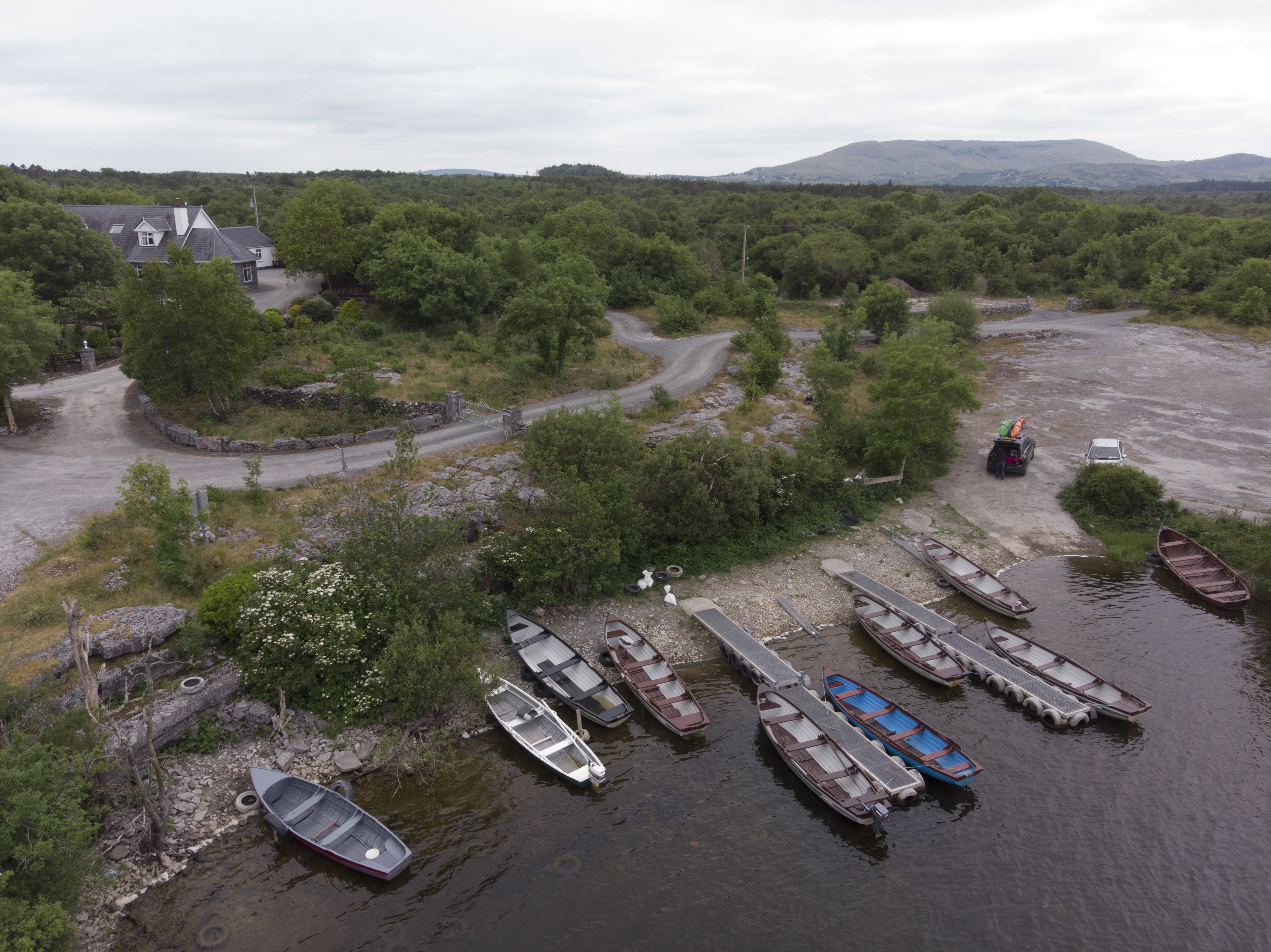 Ariel View of Dringeen Bay Angling Centre